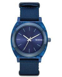 Nixon | Time Teller Nylon Strap Watch | Lyst