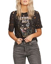 Volcom - Holy Stokes Distressed Graphic Tee - Lyst