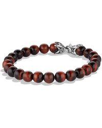 David Yurman - 'spiritual Beads' Bracelet With Tiger's Eye - Lyst