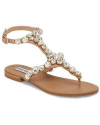 Steve Madden - Chantel Crystal Embellished Sandal - Lyst