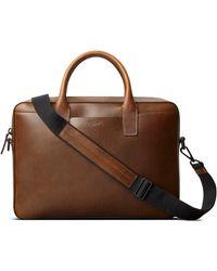 Shinola Fulton Navigator Leather Briefcase - Brown