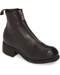 Guidi Front Zip Boot - Black