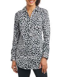 Foxcroft - Fay Animal Print Shirt - Lyst