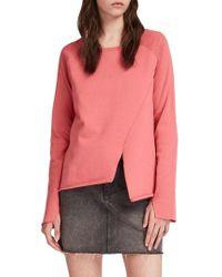 AllSaints - Pelo Asymmetrical Sweatshirt - Lyst