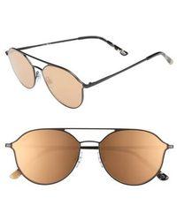 Web - 59mm Metal Aviator Sunglasses - Lyst