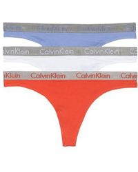 CALVIN KLEIN 205W39NYC - 'radiant' Stretch Cotton Thong - Lyst