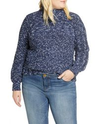 Caslon - Caslon Mock Neck Nep Pullover Sweater - Lyst