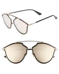 3a431d0e4b1 Lyst - Dior Christian  metaleyes 1  57mm Retro Sunglasses - Crystal ...