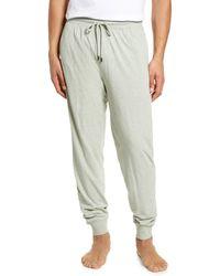 Daniel Buchler Stretch Cotton & Modal Pyjama Pants - Green