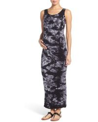 1368adb661e7 Tees by Tina -  lattice  Tie Dye Textured Maternity Maxi Dress - Lyst