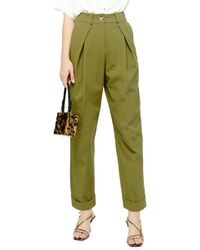 TOPSHOP Ovoid Pants - Green