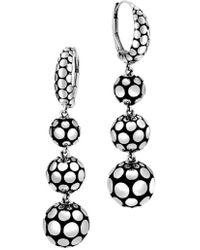 John Hardy - Dot Triple Drop Earrings - Lyst