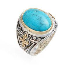 Konstantino Heonos Turquoise Ring - Metallic