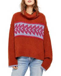 Free People Greater Than Sweater - Red