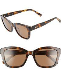 Longchamp Heritage 53mm Polarized Square Sunglasses - Havana - Brown