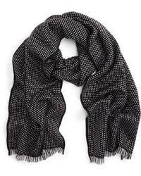 Canali - Dot Wool Scarf - Lyst