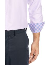 English Laundry Dot Regular Fit Dress Shirt - Purple