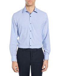 W.r.k. Slim Fit Performance Stretch Check Dress Shirt - Blue