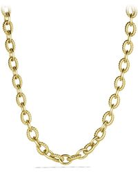 David Yurman - Oval Large Link Necklace In Gold - Lyst