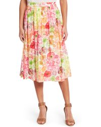 ModCloth - Heirloom Tomato Print Pocket Skirt - Lyst
