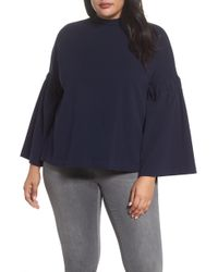 Two By Vince Camuto Bell Sleeve Top - Gray
