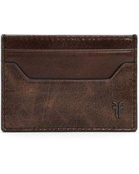 Frye Austin Leather Card Case - Brown