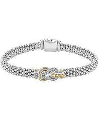 Lagos - 'newport' Diamond Knot Bracelet - Lyst