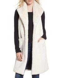 Heurueh - Heather Faux Mink Fur Vest - Lyst