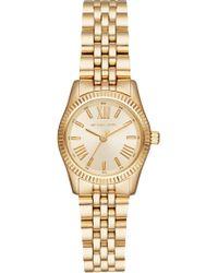 Michael Kors Petite Lexington Gold-tone Watch - Metallic