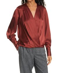 Rag & Bone - Lei Silk Charmeuse Blouse Classic Fit Top - Lyst