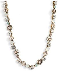 Sorrelli - Classic Floral Crystal Necklace - Lyst