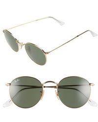 Ray-Ban - 50mm Round Sunglasses - Lyst