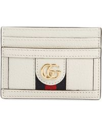 Gucci Gg Leather Card Case In Blue Lyst