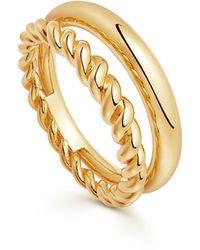 Missoma Gold Radial Ring - Metallic