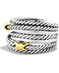 David Yurman Double X Crossover Ring - Metallic