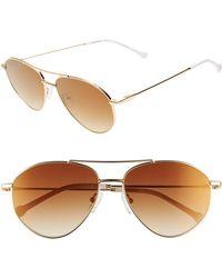 Colors In Optics Breezy 57mm Aviator Sunglasses - Metallic