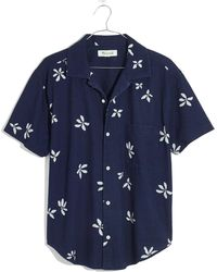 Madewell Floral Easy Button-up Camp Shirt - Blue