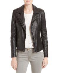 IRO - 'han' Lambskin Leather Moto Jacket - Lyst
