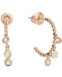 Kismet by Milka - Diamond Hoop Earrings - Lyst