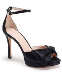 Kate Spade Bow Ankle Strap Sandal - Black