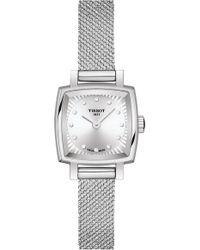 Tissot Lovely Square Diamond Bracelet Watch - Metallic