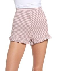 BB Dakota - Embry Ruffle Hem Lounge Shorts - Lyst