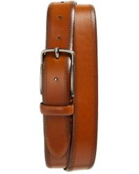 Johnston & Murphy - Perforated Leather Belt - Lyst