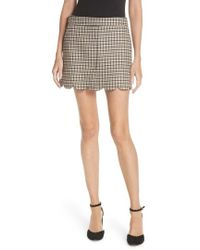 RED Valentino - Plaid Scallop Hem Wool Blend Skirt - Lyst