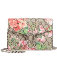 a5847f1d33c Gucci - Blooms Gg Supreme Canvas Wallet On A Chain - - Lyst