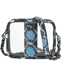 Kelly Wynne Clear Mingle Mingle Mini Crossbody Bag - Blue