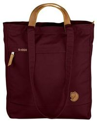 Fjallraven - 'totepack No.1' Water Resistant Tote - Burgundy - Lyst