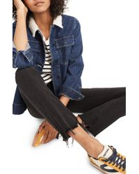 Madewell - Cali Chewed Hem Demi Bootcut Jeans - Lyst