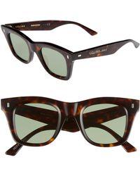 4dd4b4d201fa Céline - 46mm Square Sunglasses - - Lyst