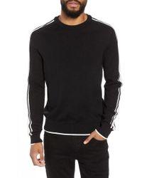 TOPMAN - Stripe Sleeve Sweater - Lyst